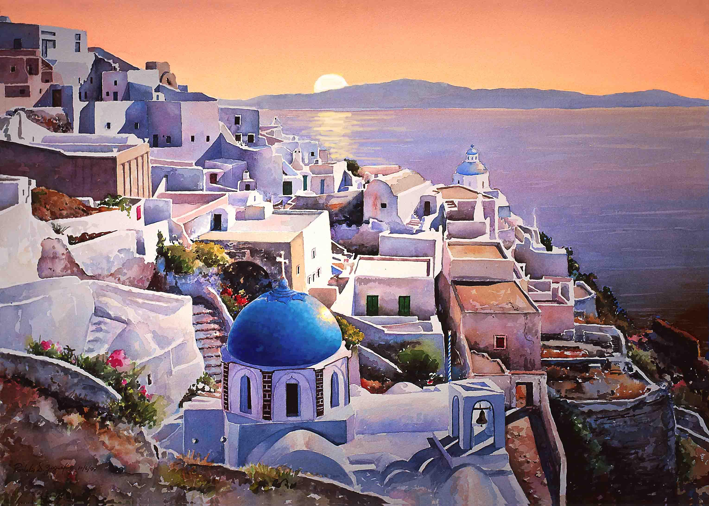 Embárquese para visitar Santorini
